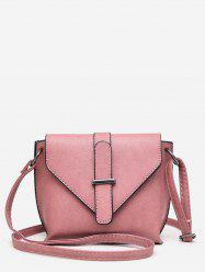 Simple Style Solid Leather Small Shoulder Bag -