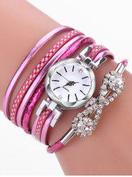 Infinity Rhinestone Wrap Quartz Watch -