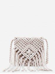 String Weaving Tassel Shoulder Bag -