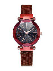 Magnetic Buckle Starry Dial Quartz Watch -