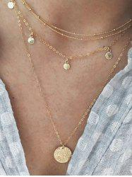 Layered Disc Chain Necklace -