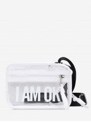 Character Pattern Transparent Crossbody Bag -