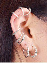 Z Net ER-8043 Size C-shaped Earrings Eight-piece -