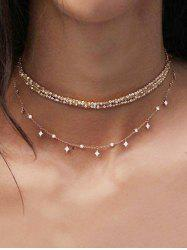Layered Chain Choker Necklace -