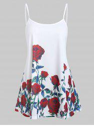 Rose Flower Tunic Cami Top -