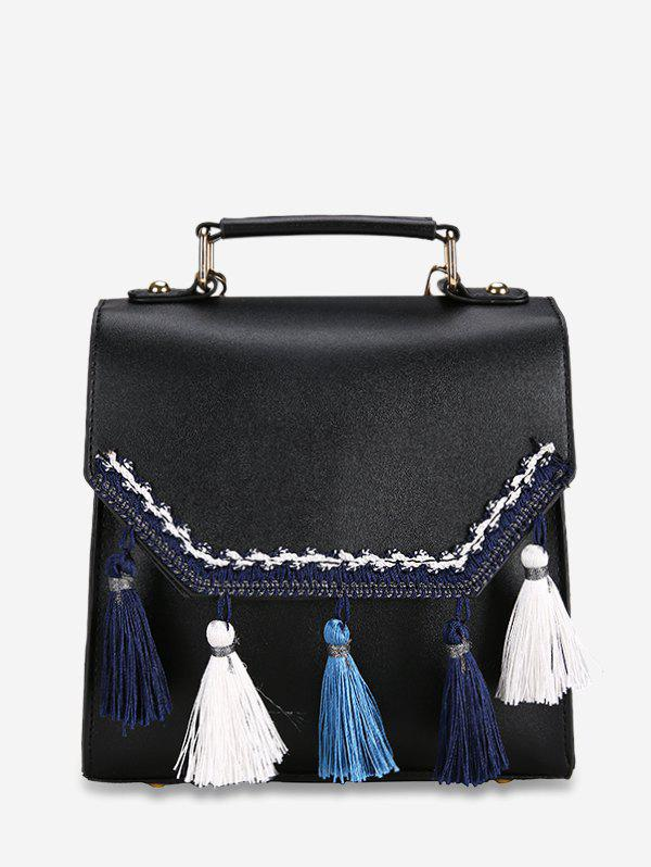 Affordable Simple Lace Tassel Leather Backpack