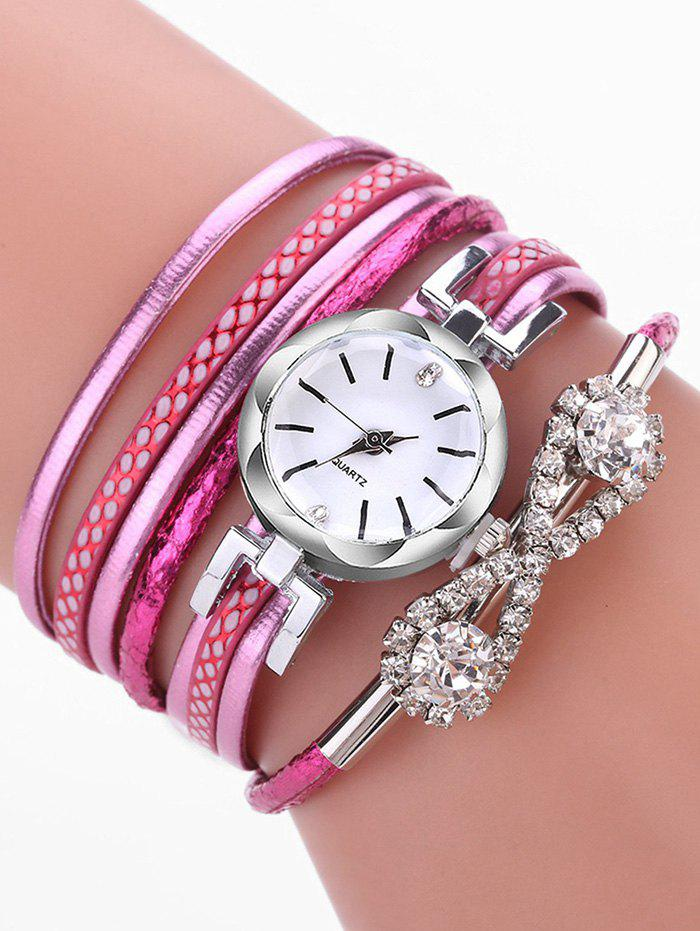 Affordable Infinity Rhinestone Wrap Quartz Watch