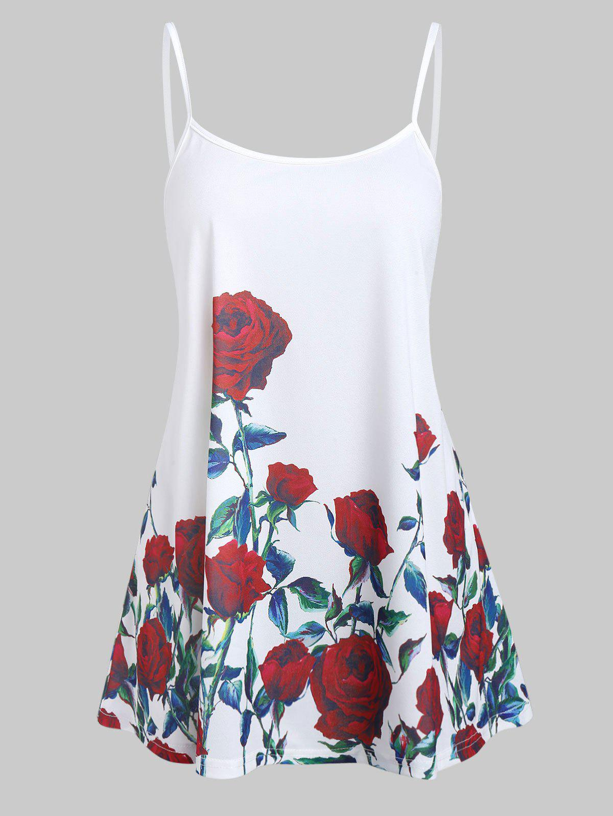 Shops Rose Flower Tunic Cami Top