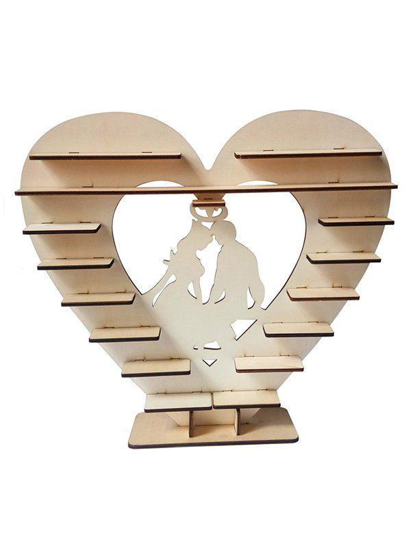 New Lovers Heart Wood Wedding Chocolate Shelf Decoration