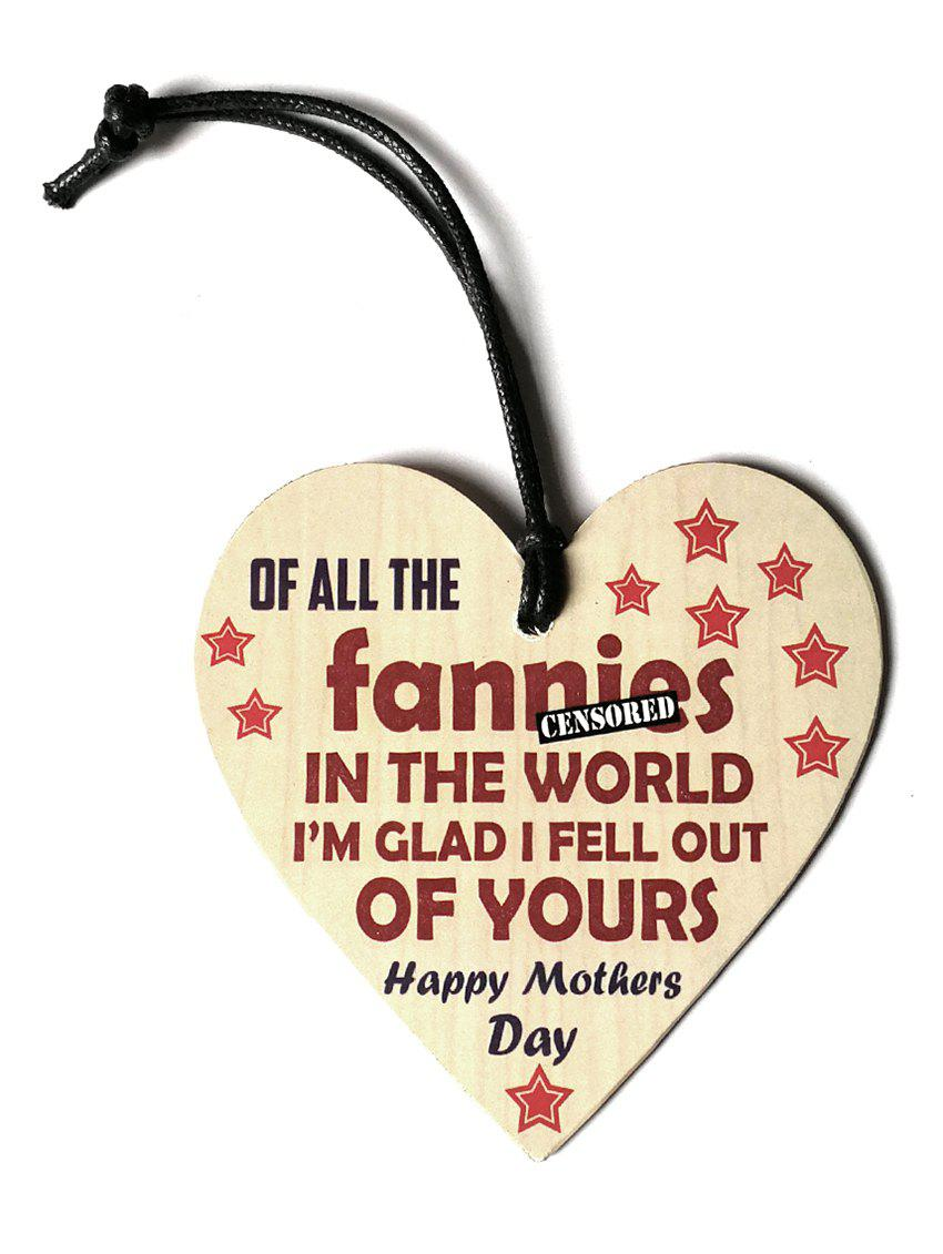 Unique Engraved Star Mother Day Wooden Hanging Decoration