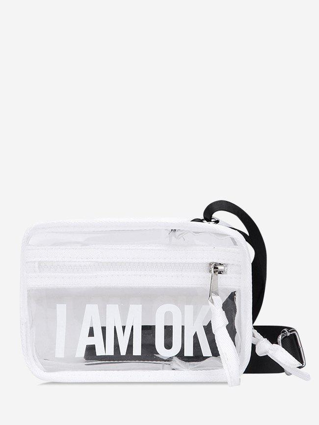 Outfits Character Pattern Transparent Crossbody Bag