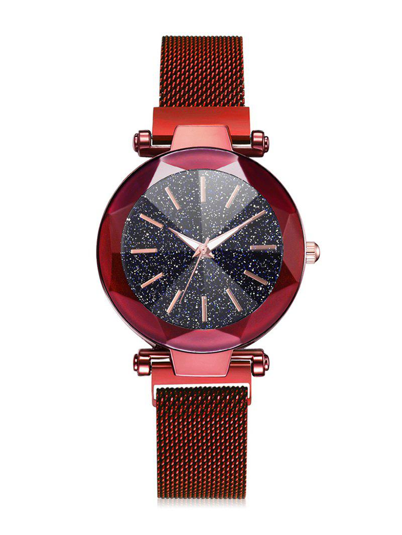Chic Magnetic Buckle Starry Dial Quartz Watch