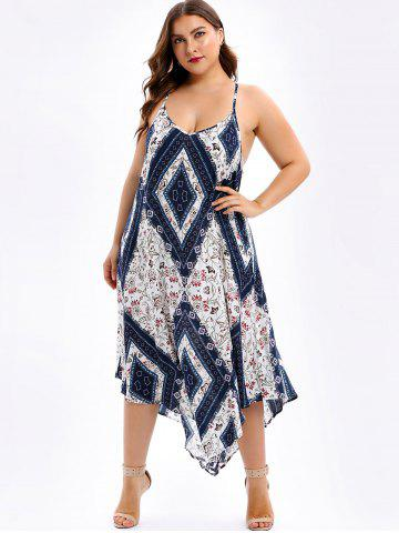 Plus Size Floral Maxi Handkerchief Dress