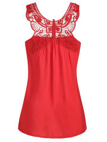 Butterfly Lace Panel Plus Size Tank Top