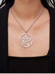 Circle Star Hollow Pendant Necklace -