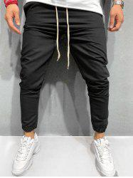 Drawstring Design Solid Color Jogger Pants -