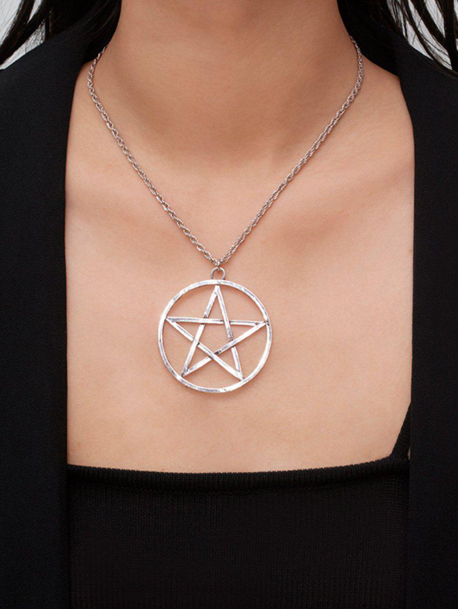 Latest Circle Star Hollow Pendant Necklace