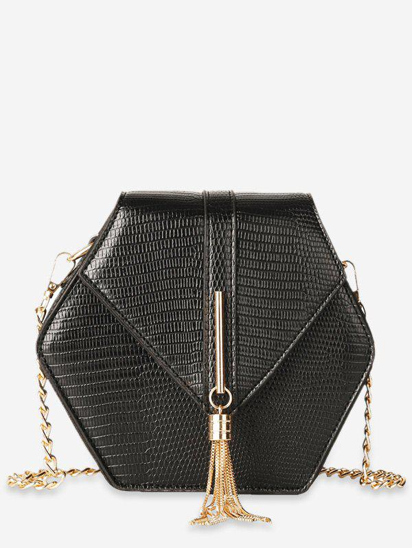 Hot Geometric Shape Tassel Decoration Crossbody Bag