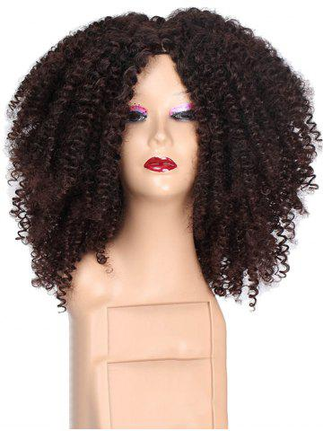 Long Kinky Curly Center Part Synthetic Wig