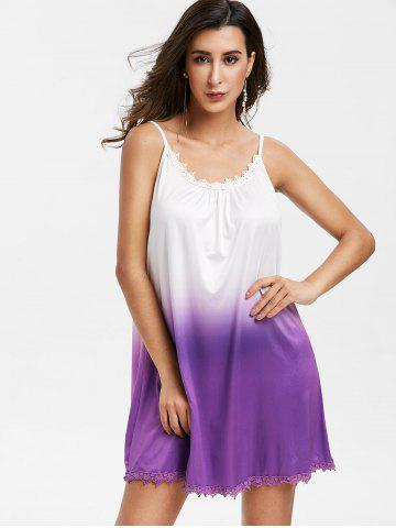 Sleeveless Ombre Color Mini Dress