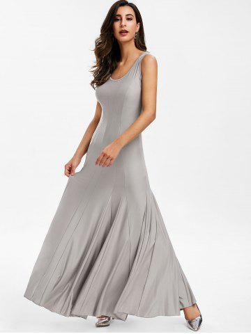 Scoop Neck Plain Maxi Dress