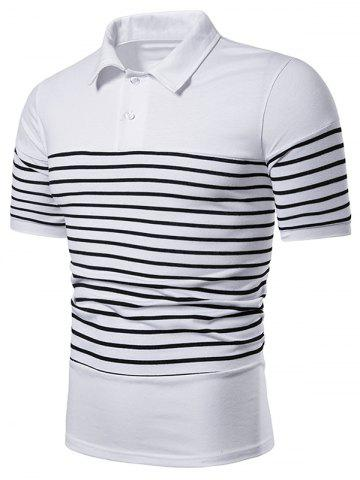 Two Tone Striped Short Sleeve T Shirt