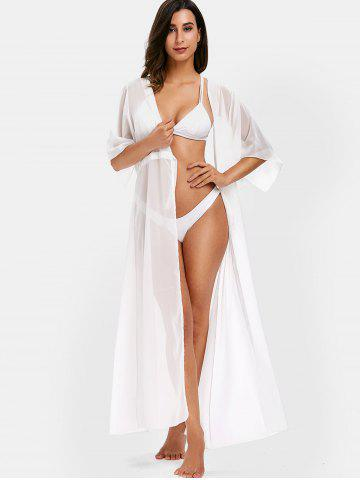 Tie Front Longline Beach Cover Up