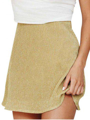 Metallic Thread Mini Skirt