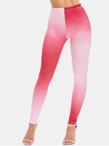 Ombre Color Skinny Leggings