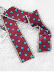 Polka Dot Print Narrow Scarf -