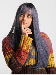Solid See-through Bang Straight Long Synthetic Wig -