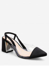 Pointed Toe PVC Panel Sandals -