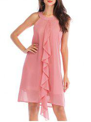 Jabot Sleeveless Dress -