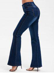 Five Pockets Bell Bottom Jeans -