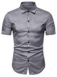 Solid Color Short Sleeve Shirt -