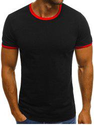 Round Neck Design Casual T-shirt -