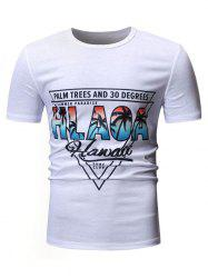 Casual Style Graphic Print T-shirt -