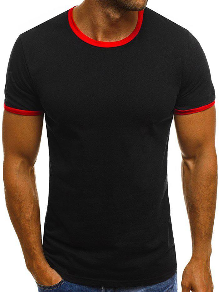 Latest Round Neck Design Casual T-shirt