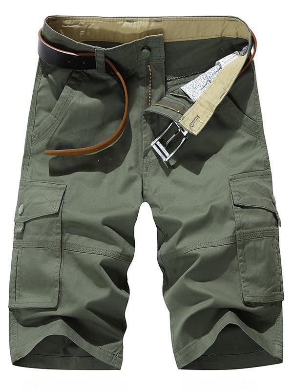 Affordable Solid Color Leisure Cargo Shorts