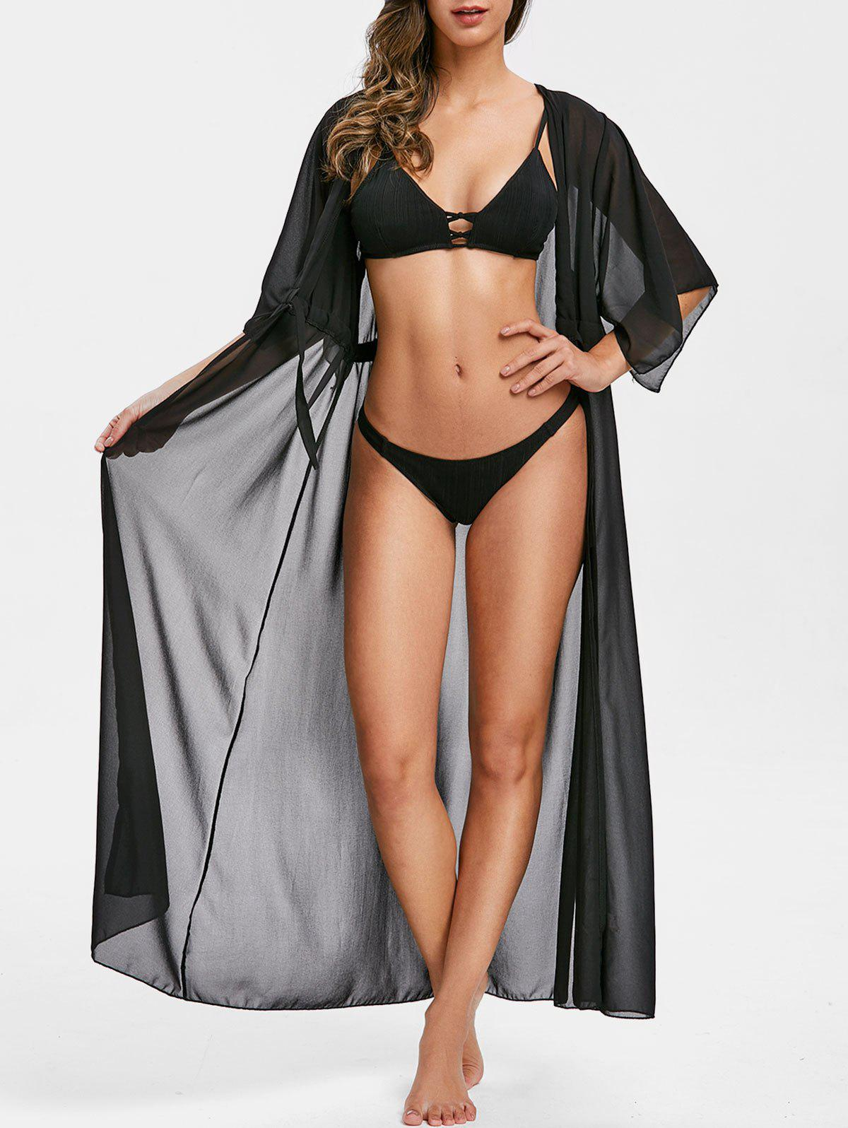 Cravate Longline Plage Cover Up Noir L