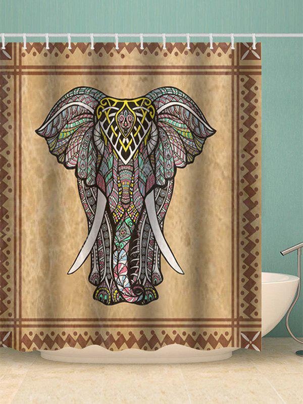 Boho Elephant Waterproof Shower Curtain