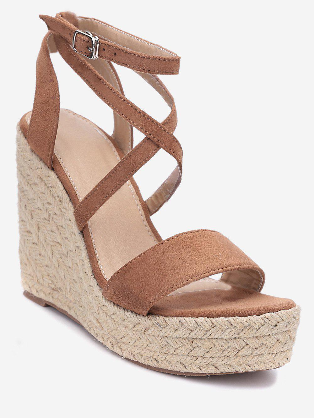 Affordable Cross Wedge High Heel Gladiator Sandals