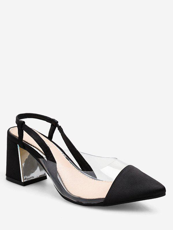Store Pointed Toe PVC Panel Sandals