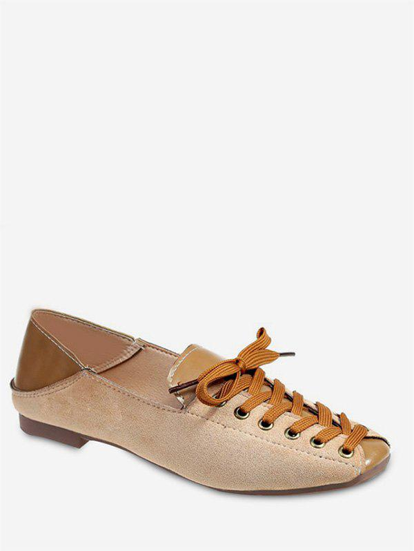 Outfits Lace-up Design Square Toe Casual Shoes