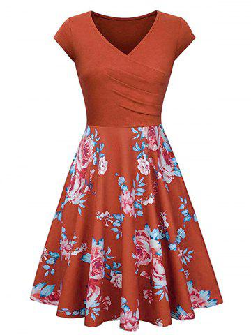 235e640d6a059 Orange Floral Print Dress - Free Shipping, Discount And Cheap Sale ...