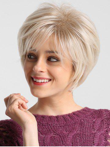 Short Solid Straight Side Bang Synthetic Wig