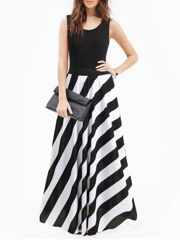 Striped Floor Length Dress