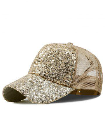 Sequin Mesh Sport Trucker Hat