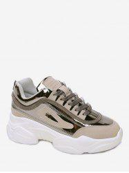 Mesh Panel Thick Bottom Sports Shoes -