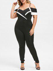 Rosegal Cold Shoulder Plus Size High Rise Jumpsuit -